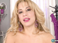 Hottie with a body, Alyssa Lynn SCORE Holiday '14, February '15 has a special reason she's going to boff for you in Private Lap Grinder but Alyssa will explain all that before she raises the wood and sits on Tony Rubino's lap.