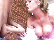 She Takes A Hold Of His Cock And Doesn'T Let Go Until He Fucks Her Pussy Good And Comes All Over Her Pretty Face.