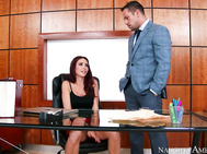 Monique Alexander is being naughty in the office.
