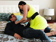 Kendra Lust gets a ride to the resort from her son's friend, Alan.