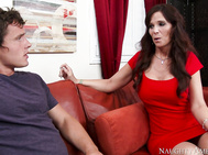 Syren De Mer's son's friend, Robby, stops by to ask her for advice on girls.