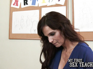 Eva Notty has a bit of an issue in her art class so she goes and talks to another art teacher, Syren De Mer, about it.