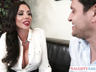 Ariella Ferrera has a thing for her co-worker and she decides the best time to bring it up is while she's on her way to the top on a new deal.