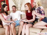 Levi's sister's friends are hanging around the house when he shows up, he didn't know they were already devising a plan to convince him to cheat on his girlfriend with them.