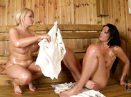 Ava, tiffany share their nipples, they take turns hefting each other