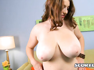 The mid-western girl-next-door is a natural beauty with 34G boobs and an innocent, wholesome look about her.