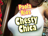 Paola Rios changes to another of her body-hugging, skimpy dresses and sits at the table for a snack.