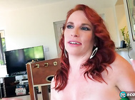 She's a 40-year-old wife--the spouse of a SCORE reader, she's a stay-at-home mom and she has a fantastic, busty body.
