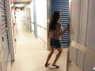 Alexa Aimes  - Streaking The Storage Locker.