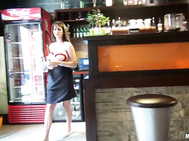 Chintia Doll  - Big Titted Waitress Fucks for Money.