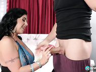 For the first time, mega-hottie Latina from California Daylene Rio meets up with Miami's busty and assy cream queen Sara Jay.