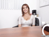 We had a total knockout Colombian babe swing by the office today, so we brought her in to see if she has what it takes to be a porn star.