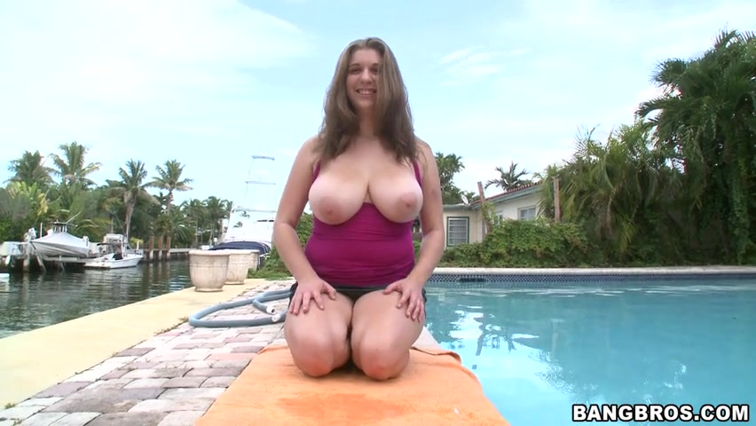 She a regular looking chick with one of the most amazing looking and feeling tit's we've ever had the pleasure to play with.