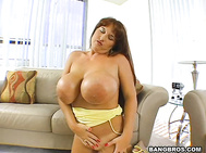 This time we got another huge boobs owner Brandy Dean.