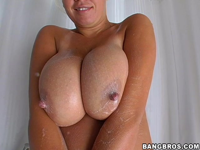 Brandy's big tits are back again, and they're bigger than ever, god are those tits huge,they make me want to cum all over them.