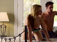 Sarah and her lover are truly passionate, they are ready to go as soon as they wake up and have amazing morning sex in this beautiful HD scene.