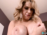 Alyssa had us at Would you like to jerk your cock between these big titties.