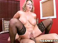 Amber Lynn Bach believes that a man should walk softly and carry a big meat stick, so Mr.