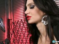 Amy Anderssen is the biggest-breasted badass biker chick to park her foxy, motorcycle mama bubble-butt on a motorcycle seat at the SCORE Studio since Scarlet LaVey spread her legs on a bitchin' Harley last year.