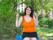 Barbara Angel's not a swinger but she does like to swing as this video proves.