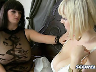 On the eve of their graduation at Big Boob Finishing School, Sophie Mae expresses self-doubts when Arianna Sinn comes by to see her.