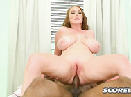 A very aggressive girl, pretty Goldie jerks the dick off in her face with an intensity close to sexual delirium. 2