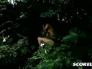 While Alexis and Shyla were sharing cock, Daylene was chasing James through the thick jungle. 2