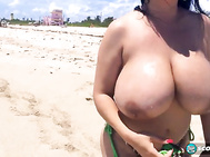 Daylene Rio rode the SCORE mobile to the famous clothing-optional section of Haulover Beach north of Miami Beach--widely recognized as the best nude beach in the States.
