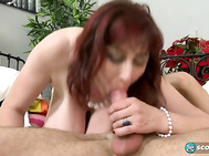 Ivana is here to tit-fuck, jack and suck a cock, and she's eager to get her tits on this citizen's sausage.