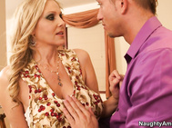 It's Turkey Day, and Julia Ann has prepared an amazing Thanksgiving dinner for her boyfriend and his son Bill.