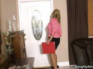 Holly Claus has a potential renter coming over to take a look at the house, and she's pleasantly surprised when she finds an attractive, young strapping man at the doorstep.