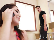 It's Noelle Easton's moving day and her friend's boyfriend is helping her unpack.