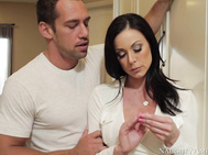 Johnny goes over to his friend's house to borrow a laptop when he notices that his friend's mom, the hot and busty Kendra Lust, is looking a little down.
