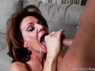 She milks his cock dry with her pussy and has him jizz in her mouth.