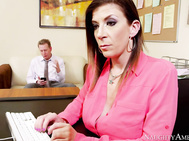 Sara Jay just started her new job at an office.