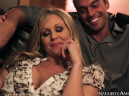 Julia Ann and her husband Rocco have discussed having a threesome for a long, long time now, and while having a post-dinner talk about Rocco's friend Bill, Julia's ready for the real thing.