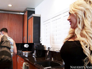 Kagney Linn Karter can't wait for her husband to hit the gym so she can call Johnny over.