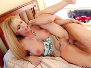 And sure enough, the second Johnny's alone with Phil's hot mom, he's boning her on Phil's bed and shooting his load all over her big tits.