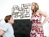 Julia Ann caught her son's friend, Tyler, peeping on her as she dressed.