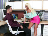 Nikita came over to Seth's office to see how things were going with getting her house remodeled.
