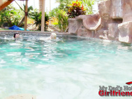 Anissa Kate & Jessie Volt are two hot french girls hanging out at their boyfriend's pool.