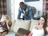 AJ Applegate & Brooklyn Chase are studying at their friend's house.