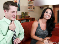 Holly West is meeting her boyfriend's son for the first time and she is pleased with what she see's.