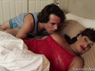 Tyler goes into the room where Tory is sleeping and takes a whiff of her panties she had packed away in her suitcase.