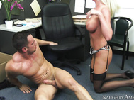 He realizes that in order to keep Riley he needs to satisfy her, so he does just that by plowing her pink pussy.