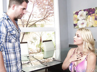 Sarah Vandella's husband's friend, Kris, is visiting.