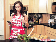 Ashley Sinclair is cooking, but her boyfriend can't make it.