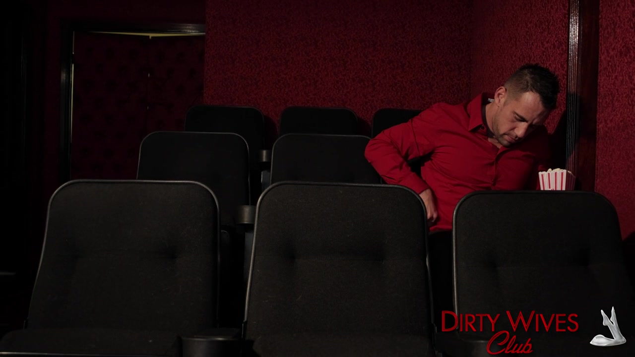 Audrey walks into a theater that was empty except for one person.