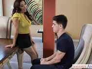 Following her classroom discussion with Tyler, Francesca finds herself with her other cheating student at her home.