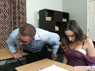 Ashley Adams grades have been slipping and her professor notices so he keeps her after class.